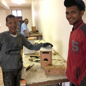 Woodwork Students